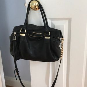 Michael Kors Black Leather Tassel bag